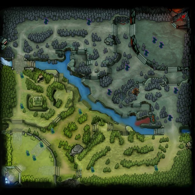 Dota Map Towers 2